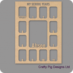 3mm MDF Personalised My School Years Photo Frame