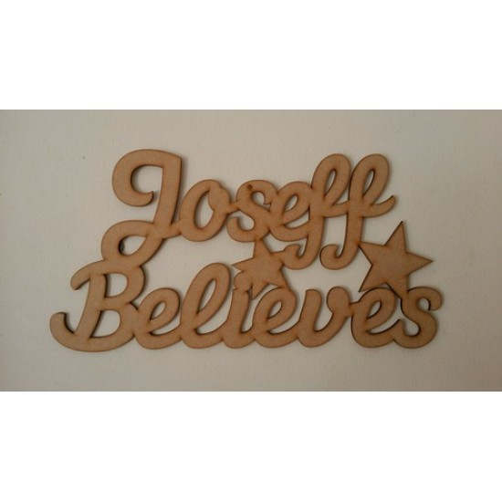 "3mm MDF Personalised Sign - your child's name - ""........"" Believes Fairy Doors and Fairy Shapes"