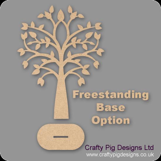 3mm MDF Tree Pointy Leaves Family Tree Kit Fuller Hearts Trees Freestanding, Flat & Kits