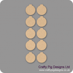 3mm MDF Baubles - (As used in christmas tree kits) Pack of 10 Hearts