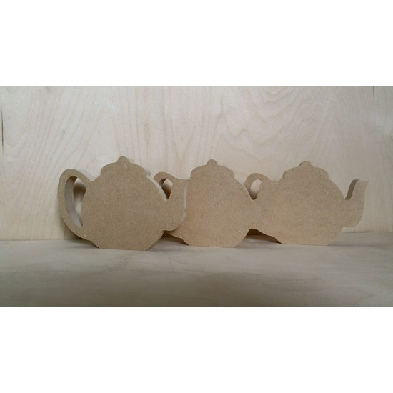 Teapot (Pack of 5)(4cm)(by width) Small MDF Embellishments