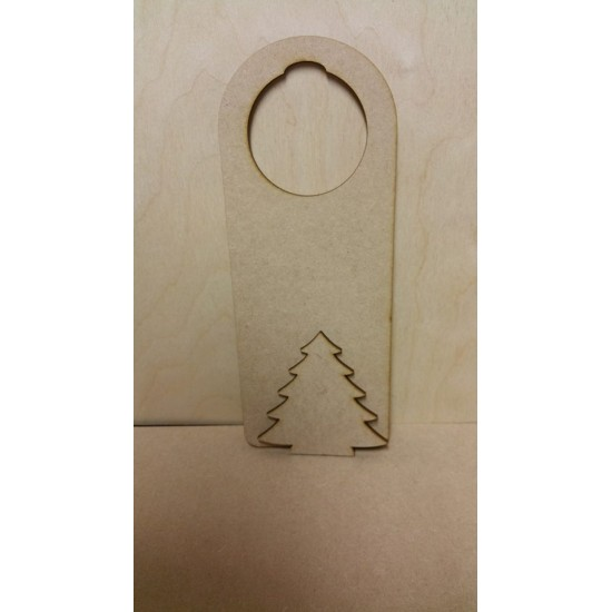 3mm MDF Christmas door hanger - with shape of choice