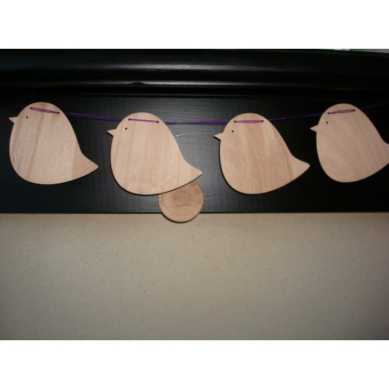 3mm MDF Bird Bunting (pack of 10) Bunting