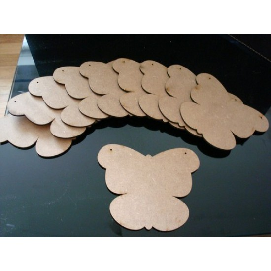 3mm MDF Butterfly Bunting (pack of 10) Bunting