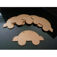 3mm MDF Car Bunting (pack of 10) Bunting