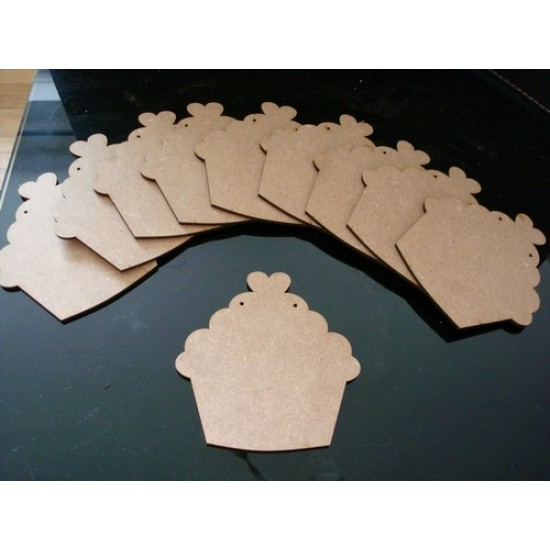 3mm MDF Cupcake Bunting (pack of 10)