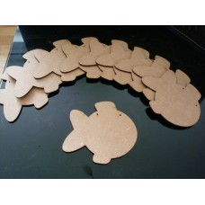 3mm MDF Fish Bunting (pack of 10) Bunting