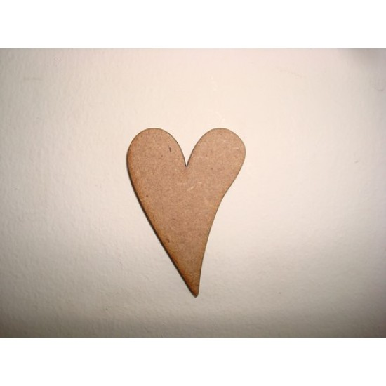 3mm MDF Stretched Heart Hearts
