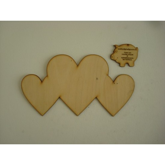 3mm MDF Welded Hearts Hearts