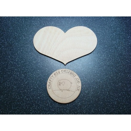 3mm MDF Country Heart (sized by width)