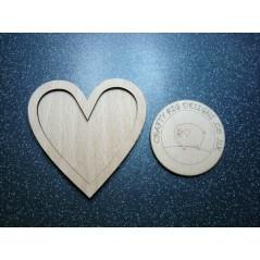 3mm MDF Heart Frame