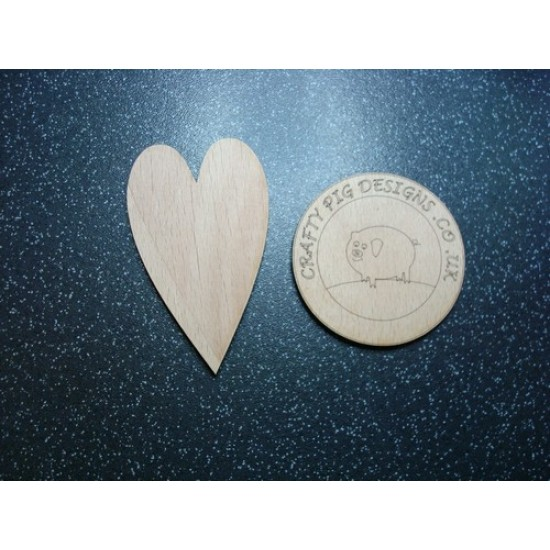 3mm MDF Primitive Heart Hearts