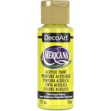 Decoart Americana Acrylic Paint -  Chartreuse Yellow 2oz Decoart Americana Acrylic Paints