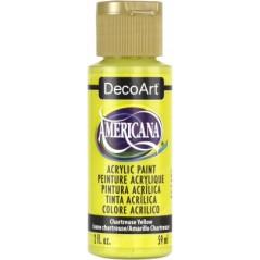 Decoart Americana Acrylic Paint -  Chartreuse Yellow 2oz