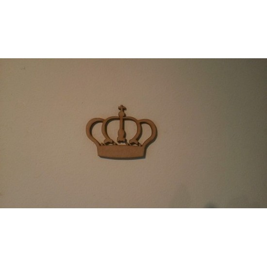3mm MDF Royal Crown embellishment Fairy Doors and Fairy Shapes