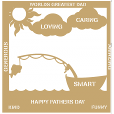 3mm MDF Father's Day Plaque - Boat Fishing Fathers Day