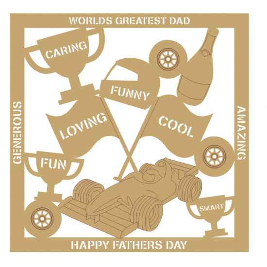 3mm MDF Father's Day Plaque - Formula 1 Fathers Day