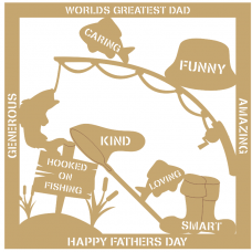 3mm MDF Father's Day Plaque - Fishing Fathers Day