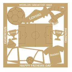 3mm MDF Father's Day Plaque - Football