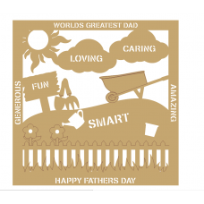 3mm MDF Father's Day Plaque - Gardening Fathers Day