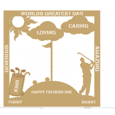3mm MDF Father's Day Plaque - Golf Fathers Day