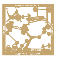 3mm MDF Father's Day Plaque - Gym Fathers Day