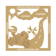 3mm MDF Father's Day Plaque - Motorbiking Fathers Day