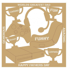 3mm MDF Father's Day Plaque- xbox Fathers Day