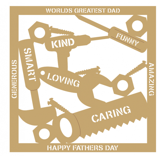 3mm MDF Father's Day Plaque - Tools Fathers Day