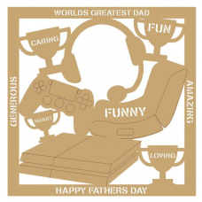 3mm MDF Father's Day Plaque - PS4 Fathers Day
