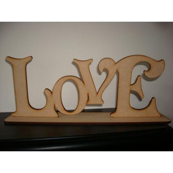3mm MDF LOVE on Plinth Valentines