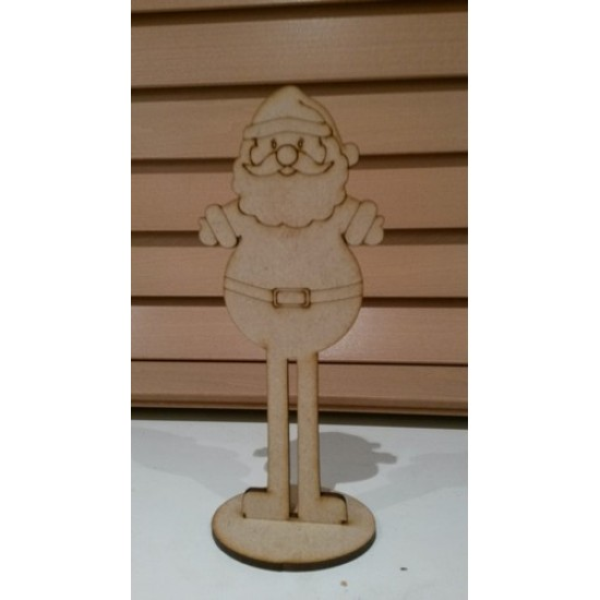 3mm MDF Cute Santa Freestanding Christmas Shapes