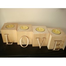 Wooden Tea Light Holders  Wooden Blocks, Tea Lights and Stacking Block Sets