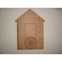 3mm MDF Beach Hut Bunting (pack of 10) Bunting