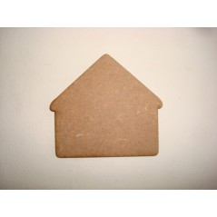 3mm MDF Rounded Edge House (pack of 5)