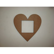 3mm MDF Heart Shape Light Surround  Light Switch Surrounds