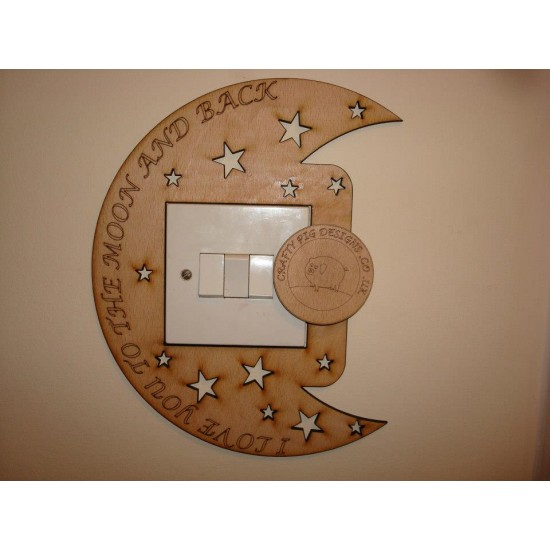 3mm MDF I Love you to the moon and back left side Light Surround
