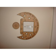 3mm MDF We/I Love you to the moon and back Light Surround  Light Switch Surrounds