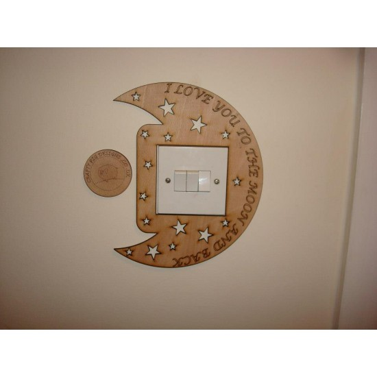 3mm MDF We/I Love you to the moon and back Light Surround