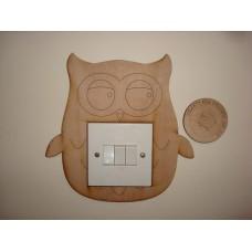 3mm MDF Owl Light Surround  Light Switch Surrounds