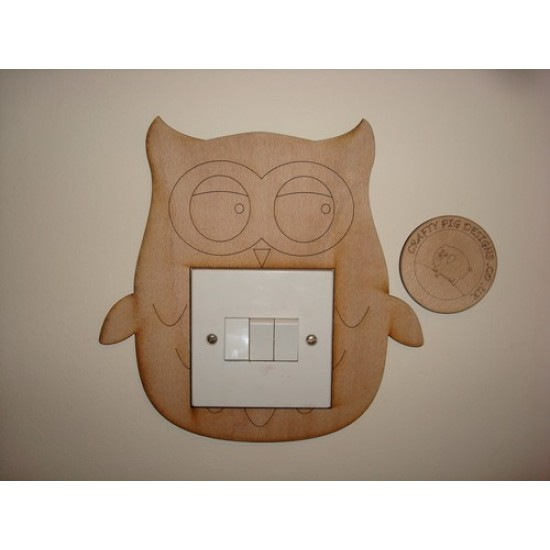 3mm MDF Owl Light Surround  Light Switch Surrounds