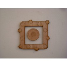 3mm MDF Small Flower  Light Surround  Light Switch Surrounds