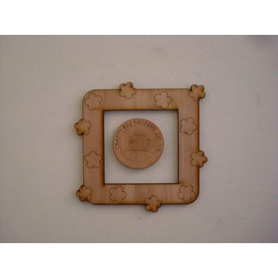3mm MDF Small Flower  Light Surround  Light Switch Surrounds