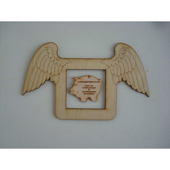 3mm MDF Angel Wings Light Surround  Light Switch Surrounds