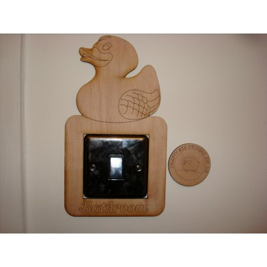 3mm MDF Ducky Bathroom Light Surround  Light Switch Surrounds