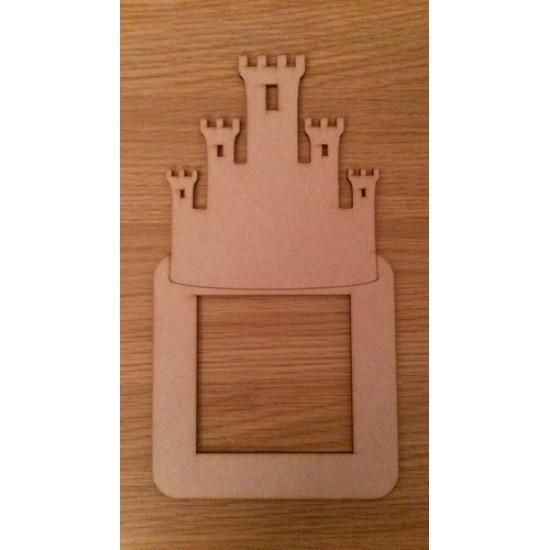 3mm MDF Boy Castle light surround Light Switch Surrounds
