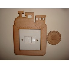 3mm MDF Choo Choo Train Light Surround  Light Switch Surrounds