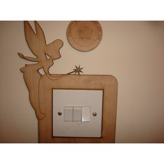 3mm MDF Fairy Standing with Wand Light Surround Light Switch Surrounds
