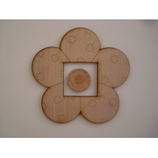 3mm MDF Large Flower Light Surround  Light Switch Surrounds