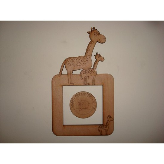 3mm MDF Father and Son Giraffe Light Surround  Light Switch Surrounds